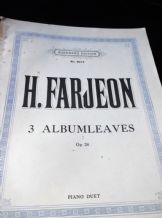 VINTAGE SHEET MUSIC BOOK H FARJEON 3 ALBUM LEAVES OPUS 24 AUGENERS 6912 1935